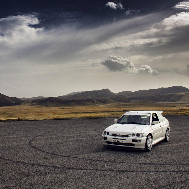 Poster Ford Escort Cosworth Bulldozer